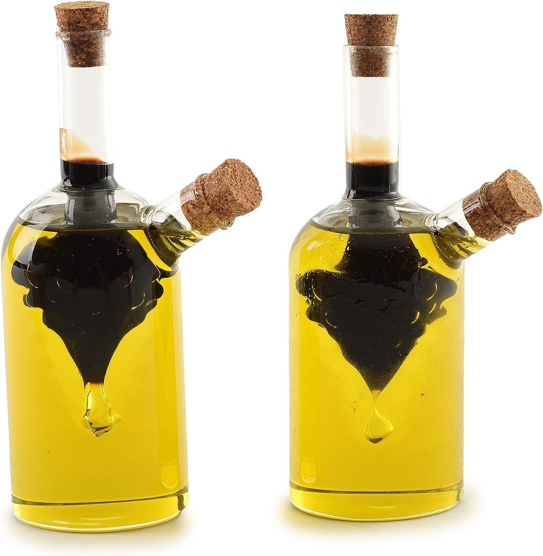Norpro Oil and Vinegar Cruets, Set of 2, Clear: Cruet Sets: Kitchen & Dining