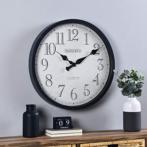 FirsTime Co. Navy Bellamy Clock