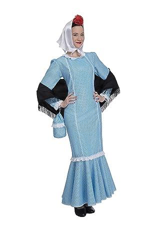 Disfraz de Madrileña Chulapa Azul (Talla XL)