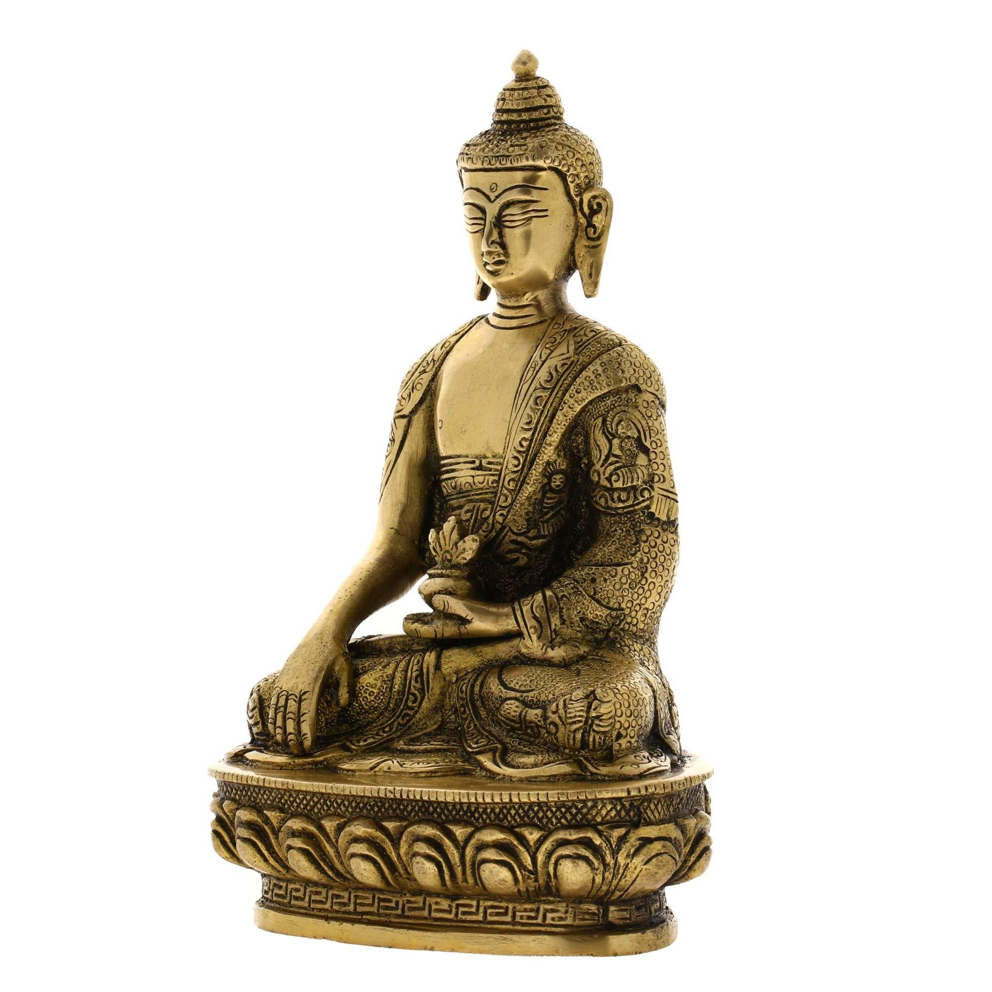 Handmade Seated Buddha Statue Sculpture India Metal Sculpture Spiritual Gifts by ShalinIndia (Image #4)