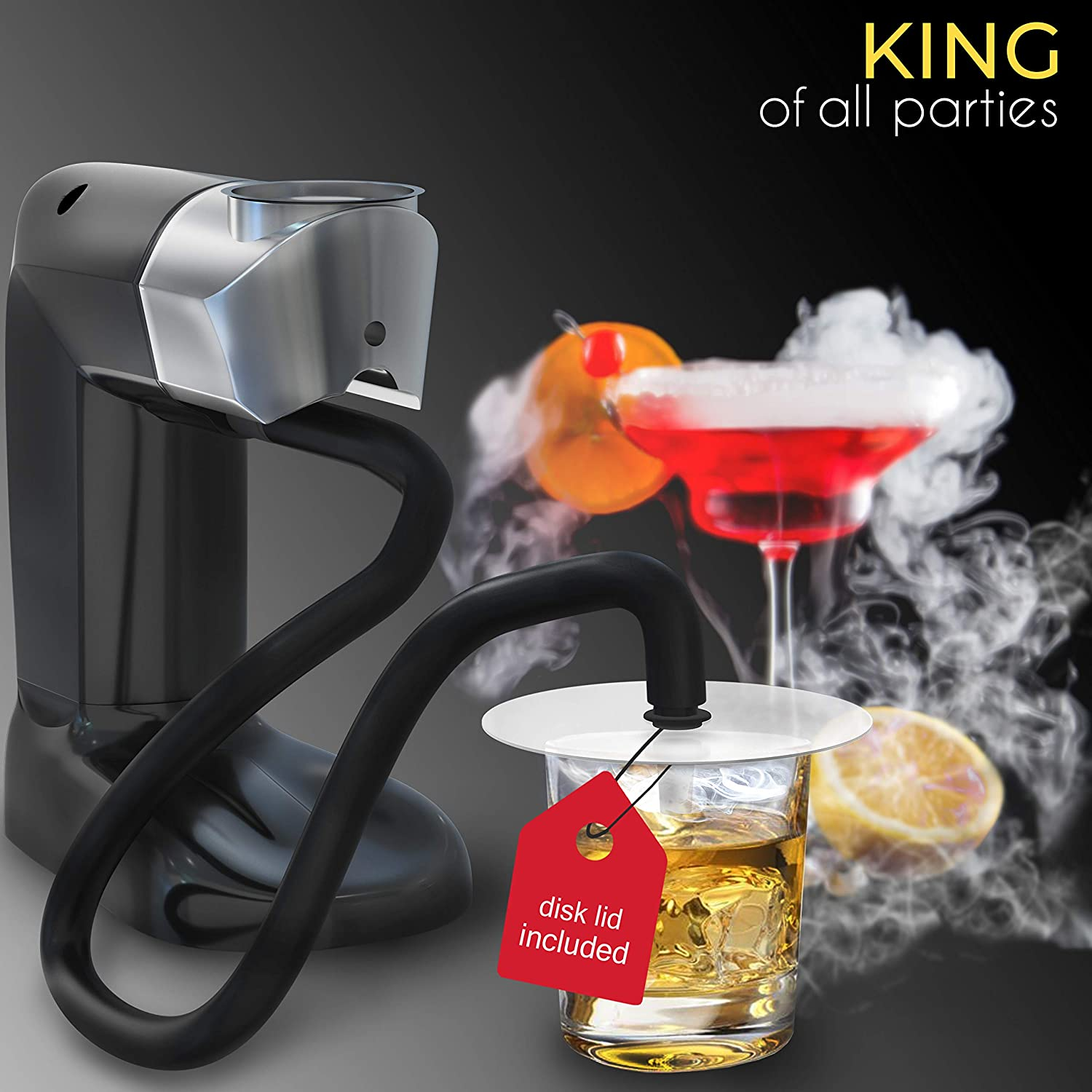 homia Smoking Gun Wood Smoke Infuser – Starter Kit, 12 PCS, Portable Electric Smoker Machine with Accessories and Wood Chips – Cold Smoke for Food and Drinks