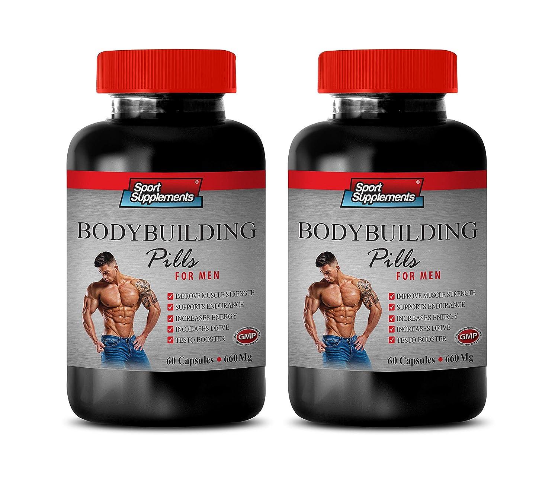 Muscle Building Vitamins for Men - Bodybuilding Pills 660 MG - for Men - dhea Bodybuilding - 2 Bottles 120 Capsules