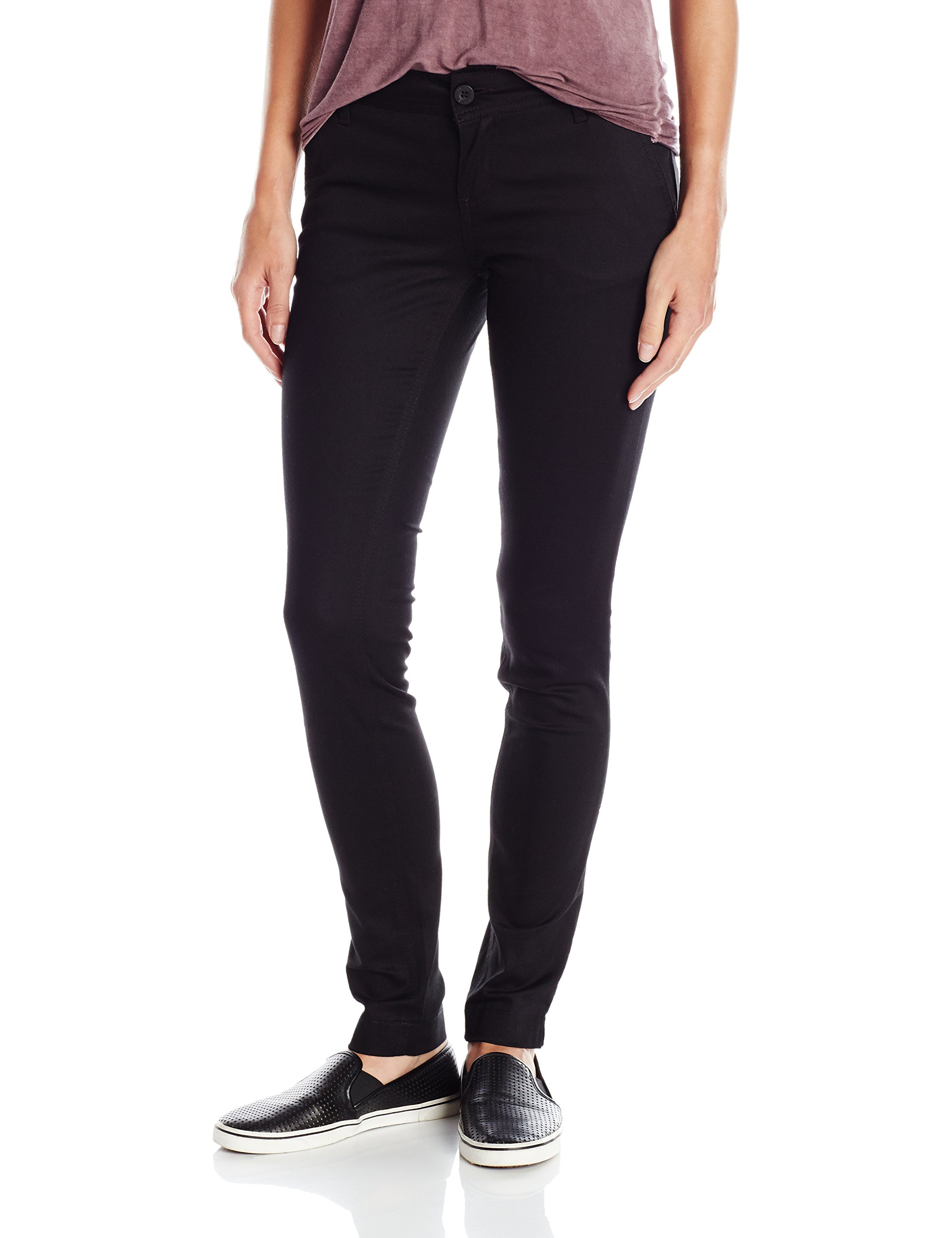 Dickies Girl Juniors 4 Pocket 30'' Inseam Pant, Black, 11