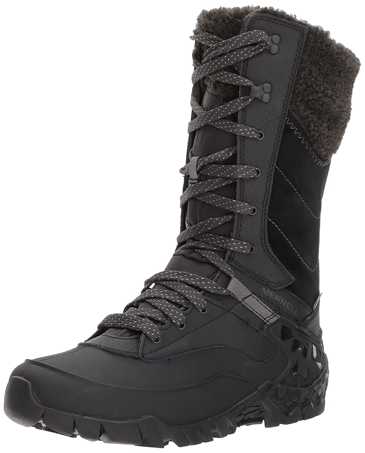 Merrell Women's Aurora Tall Ice Plus Waterproof Snow Boot B018WFAUBI 8.5 B(M) US|Black