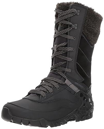 Merrell Snowbound Mid Waterproof, Damen Trekking- & Wanderschuhe, Schwarz (BlackBlack), 38 EU