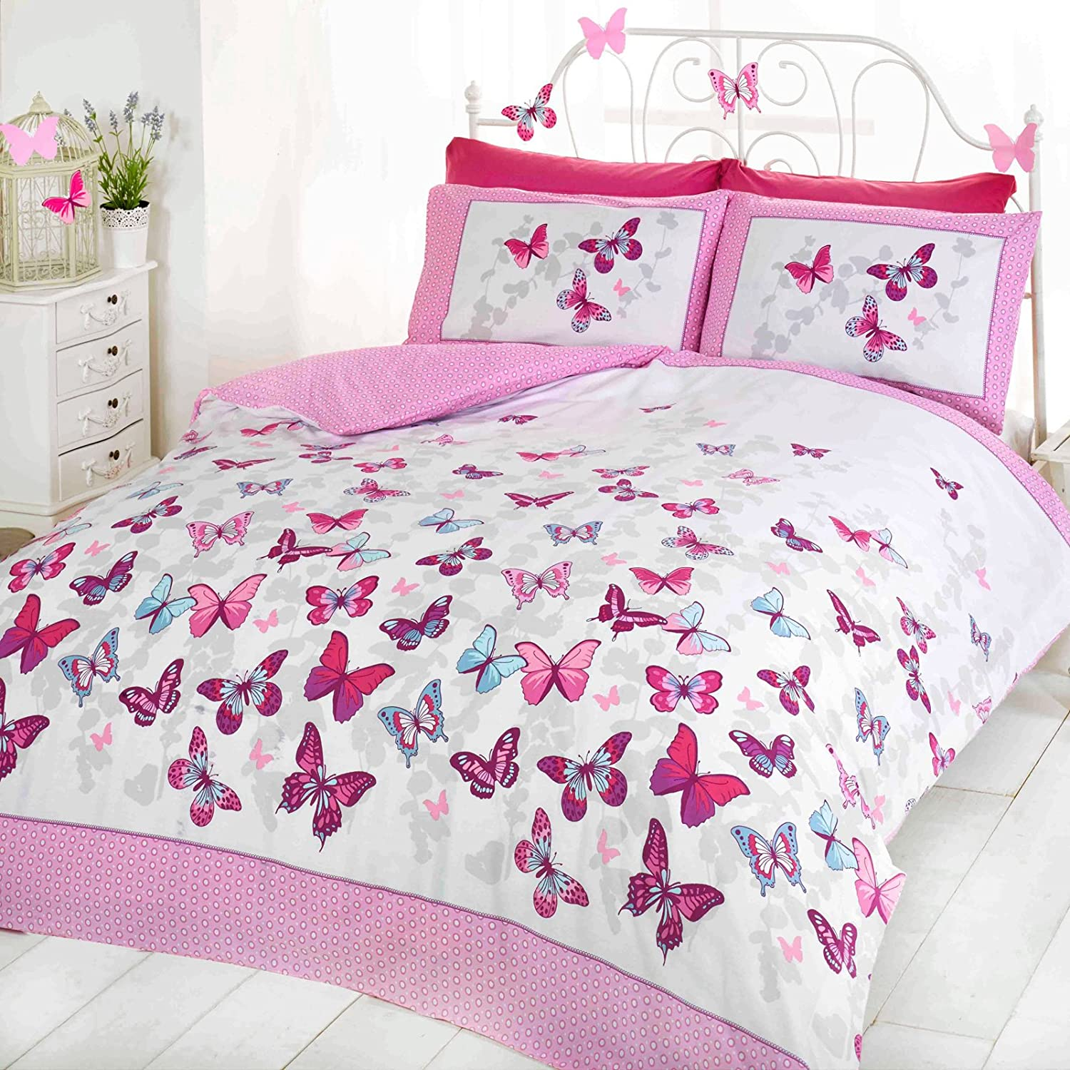 bedding comforter prod sheet gift butterfly set birthday for size girls teen itm piper twin new