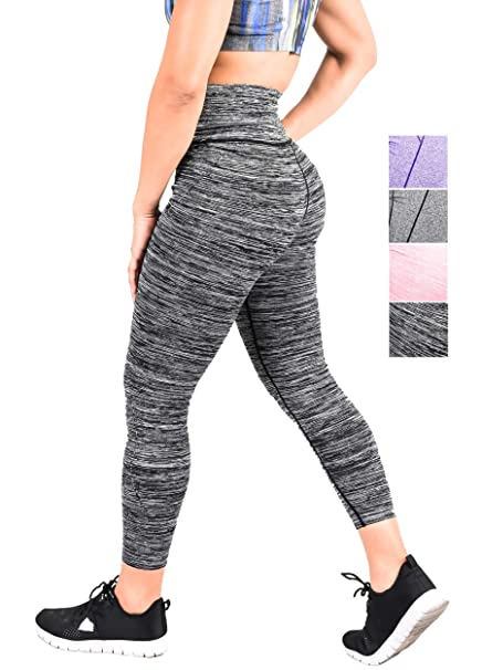 c7c742110545f Women's Tummy Control Yoga Pants Leggings High Waist Running Tights for Way  Stretch Run Small for