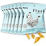 Flock Keto Chicken Skin Chips | 100% Real Chicken | Low Carb, High Protein, Sugar Free, Gluten Free Single Serve Snack | Salt