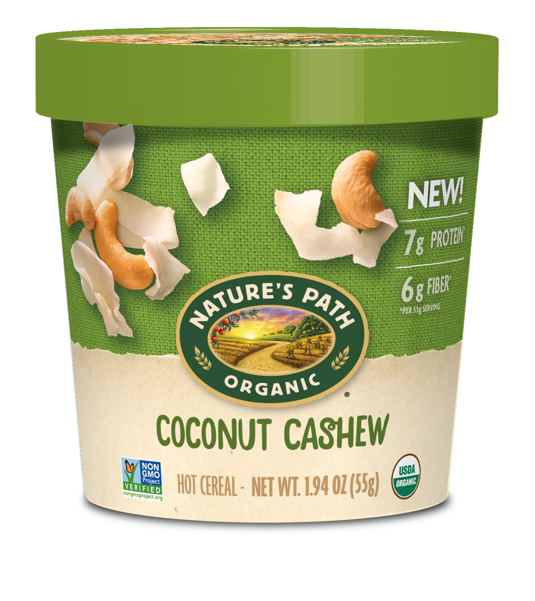 Nature's Path Organic Oatmeal Cup, Coconut Cashew (Pack of 12)