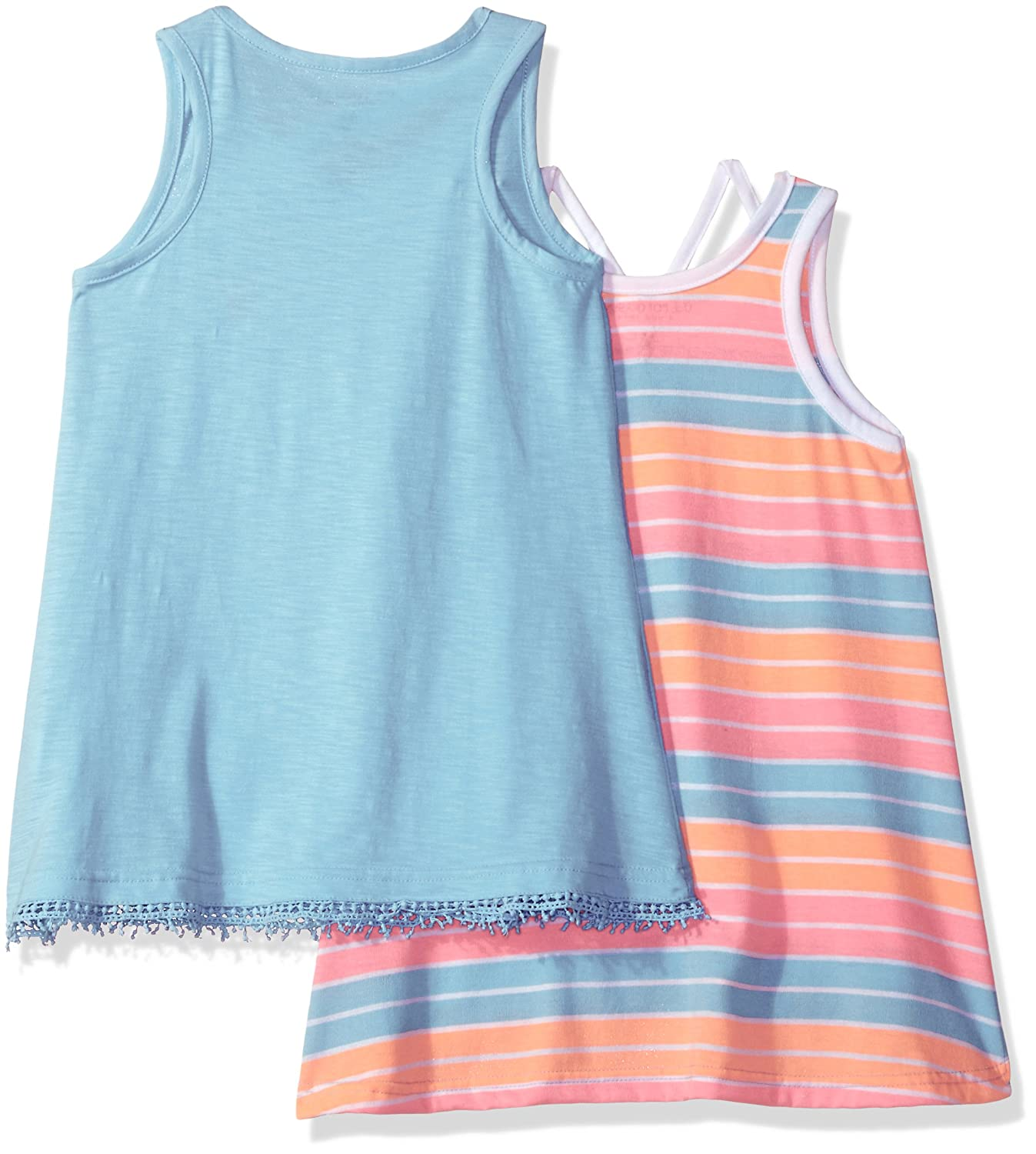 Girls Big 2 Pack Tank Tops U.S Polo Assn 1 Stripe and 1 Solid