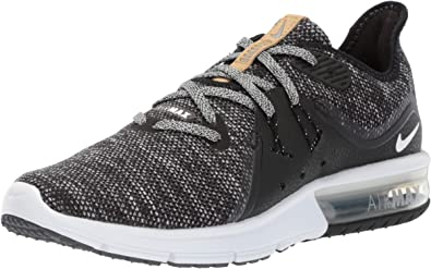 técnico septiembre Experto  Nike Women's Air MAX Sequent 3 Black/White/Dark/Grey Running Shoe 9.5 Women  US: Amazon.com.mx: Ropa, Zapatos y Accesorios