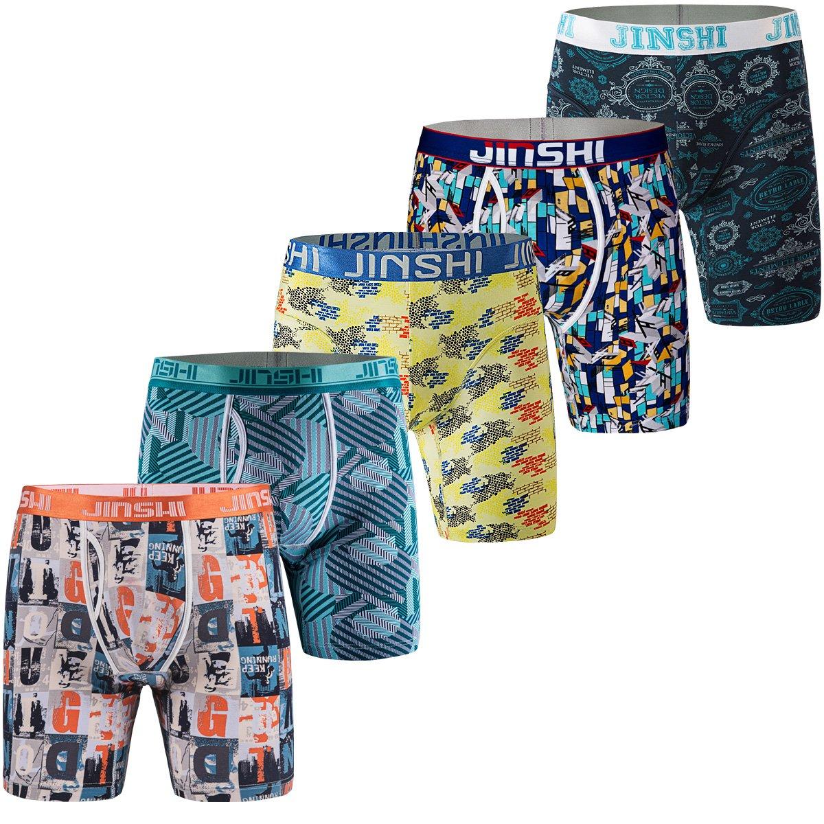 JINSHI Men's Underwear Long Leg Boxer Briefs ZHJSYHL-Series
