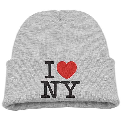 0ae09b920fb Amazon.com  Kids I Love NY Ash Comfort Hat Beanies Cap ...