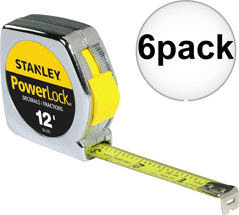 "STANLEY 33-272 12/' x 1//2/"" POWERLOCK Tape Measure"