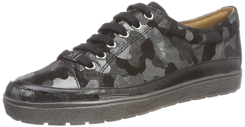 Caprice 23654, Zapatos de Cordones Derby para Mujer 38 EU|Negro (Blk Camou Comb 43)