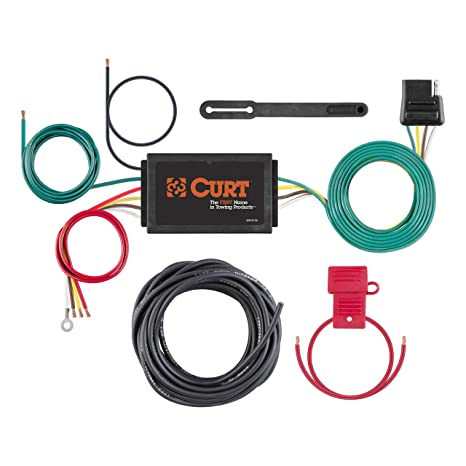 amazon com: curt 59146 powered 3-to-2-wire splice-in trailer tail light  converter kit with 4-pin wiring harness: automotive