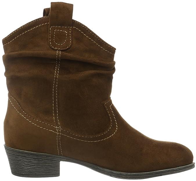 Jane Klain Damen Stiefelette Cowboy Stiefel, Braun (450 Cognac), 36 EU