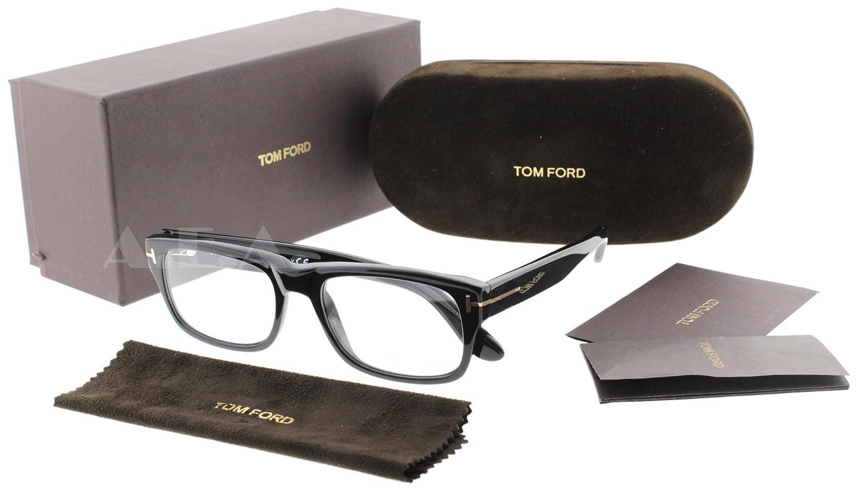 2e73de1b4f7c1 Amazon.com  Tom Ford Tf 5253 Black Frame Clear Lens 54Mm  Tom Ford  Clothing