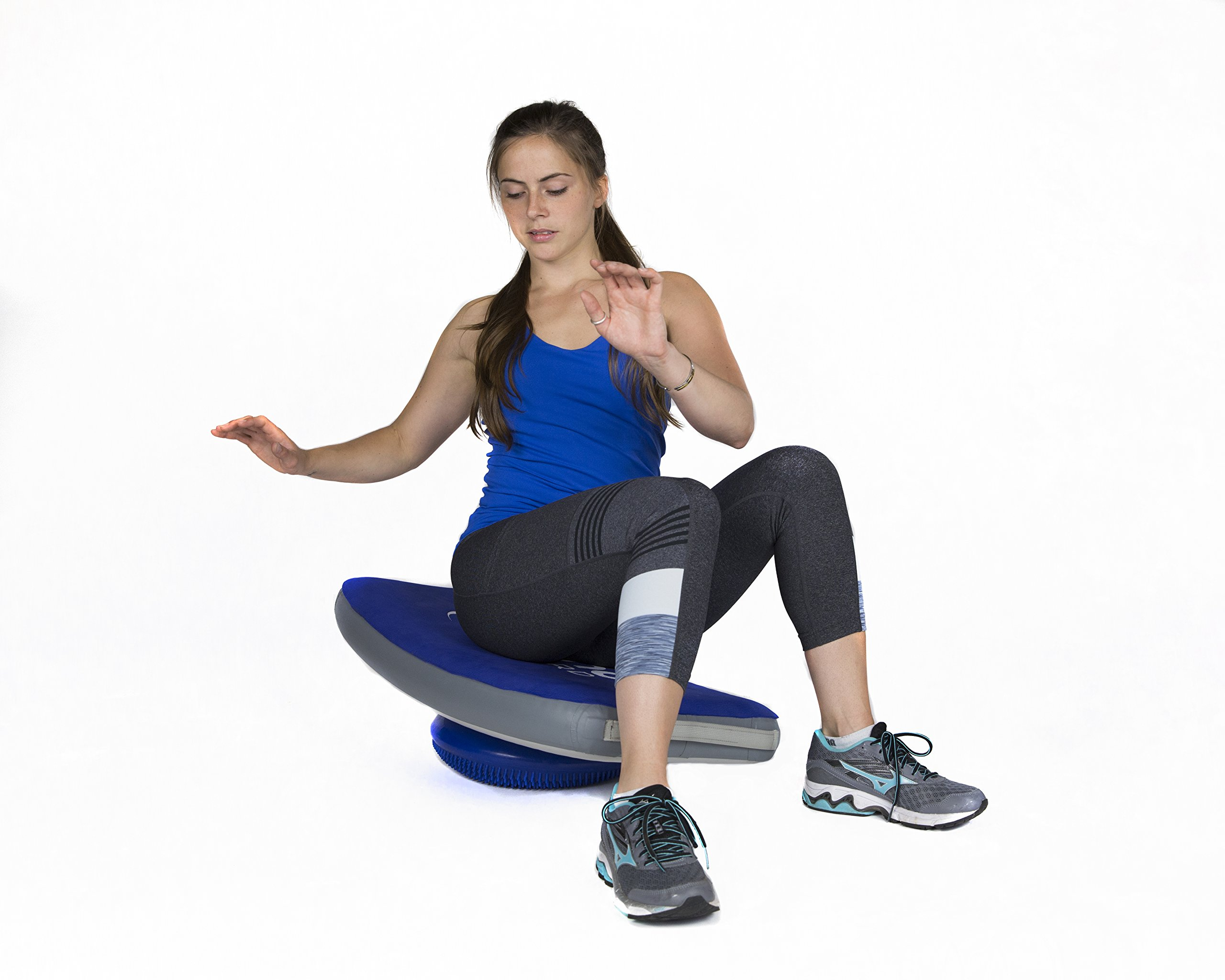 KUMO Inflatable Balance Board for Surf Training, Exercise, Physical Therapy, Standing Desk & Kids - Balancing Rocker Boards with Roller - Soft Inflatable Surfing Trainer Improves Balance & Strength by Kumo Board (Image #7)