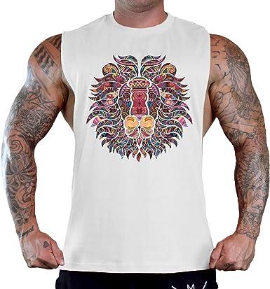 BODYBUILDING,WORKOUT CLOTHING AZTEC WARRIOR DESIGN GYM TRAINING TSHIRT