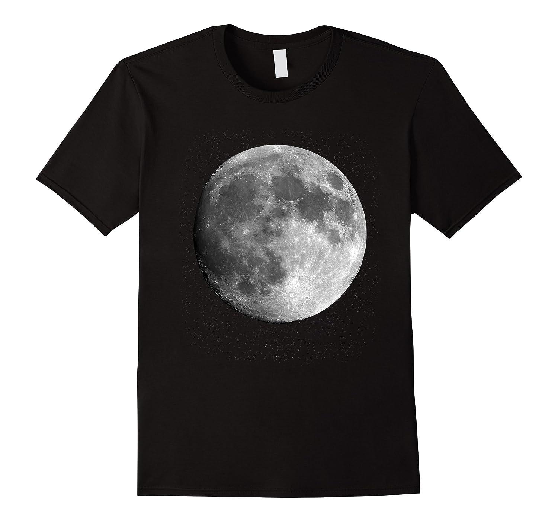 Full Moon Luna Astronomy Space Galaxy Stars T-shirt-T-Shirt