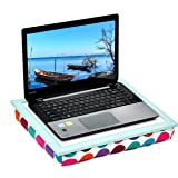"""WELLAND Lap Desk for Notebook, MacBook, Tablet, Serving Tray for Bed, Sofa or Car, Fits up to 17 inches Laptop, Colorful Dot, 16""""W x 12""""D"""
