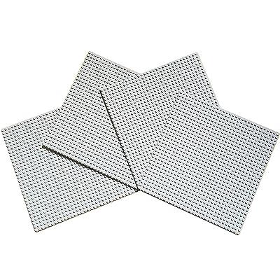 papimax Papimax Plaques de base Construction paquet 32x32 goujons 4 pièces bundle en Gris clair couleurs Jeux de construction 25 cm X 25 cm