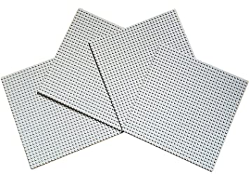 LEGO NEW 32 X 32 DOT 10 X 10 INCH LIGHT BLUISH GREY BASEPLATE PLATFORM PLATE