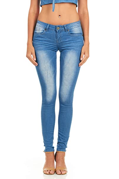 Cover Girl Women S Butt Lifting Low Rise Skinny Jeans Acid Washed