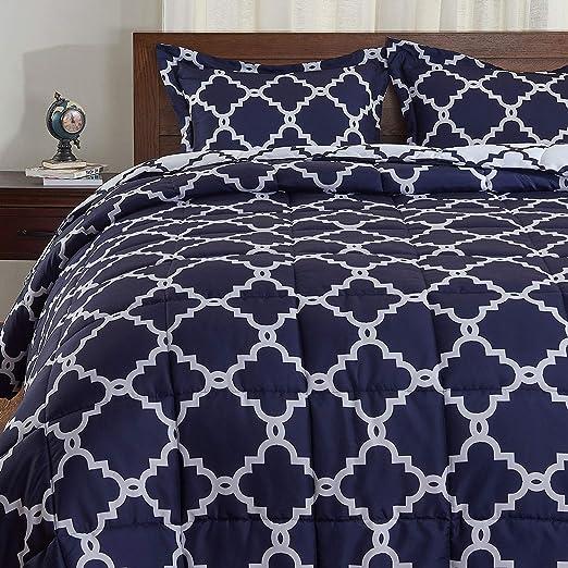 Reversib... Includes 2 Pillow Shams Brookside Striped Chambray Comforter Set