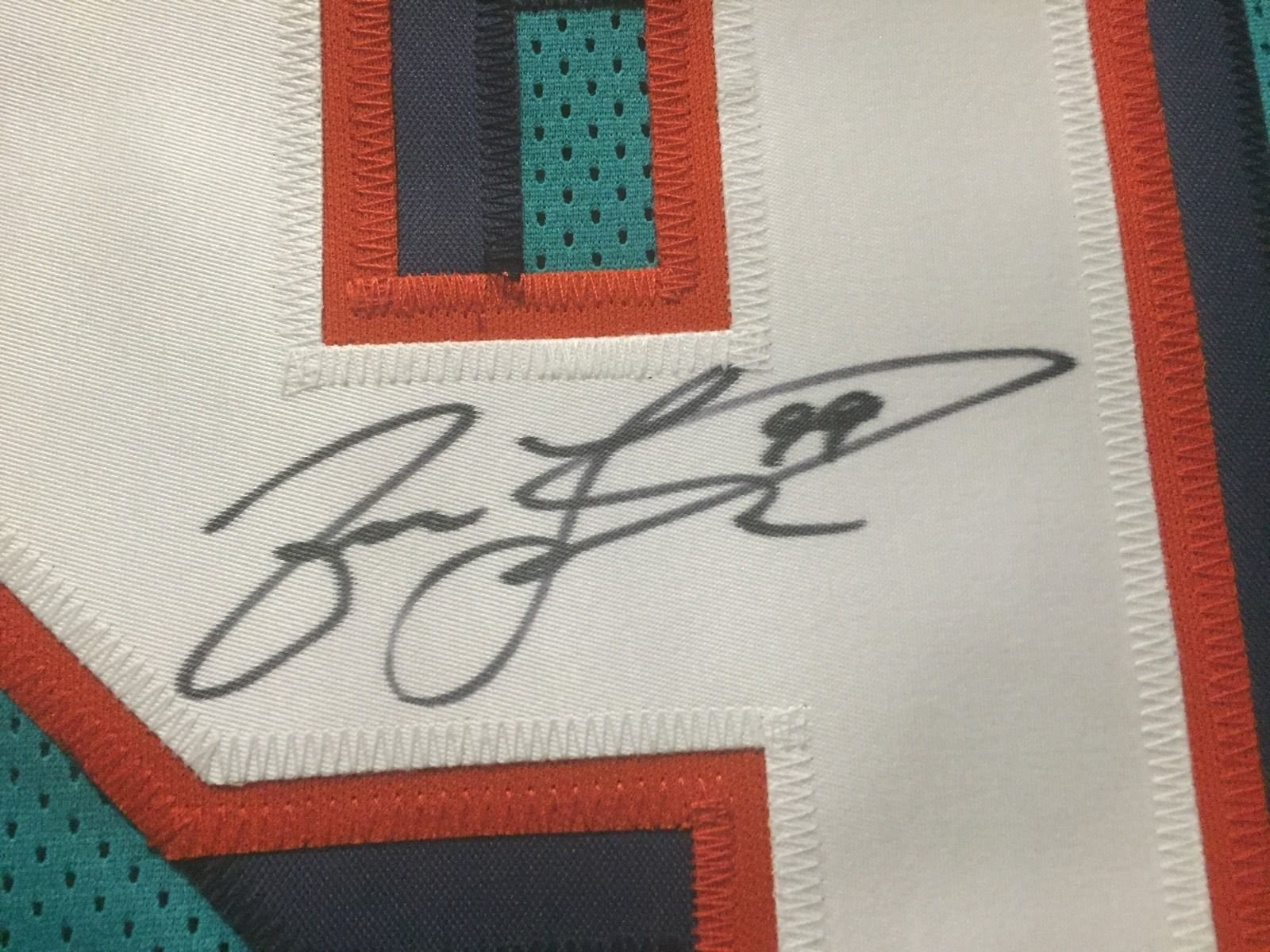 Autographed/Signed Jason Taylor Miami Teal Football Jersey JSA COA