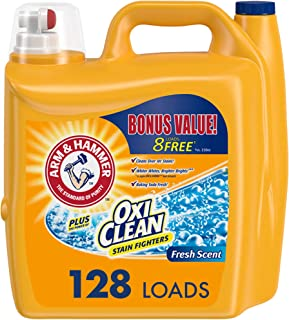 product image for Arm & Hammer Plus OxiClean Fresh Scent, 128 Loads Liquid Laundry Detergent, 224 Fl oz