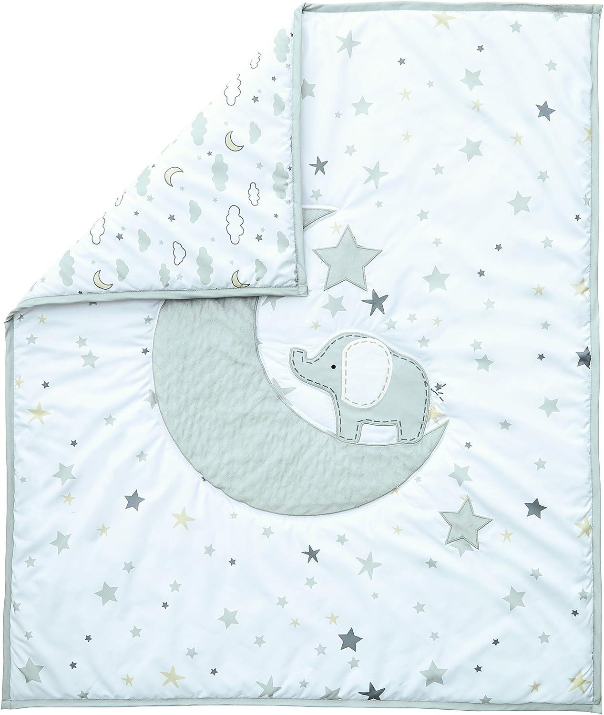 Wendy Bellissimo 4pc Nursery Bedding Baby Crib Bedding Set Elephant in Grey