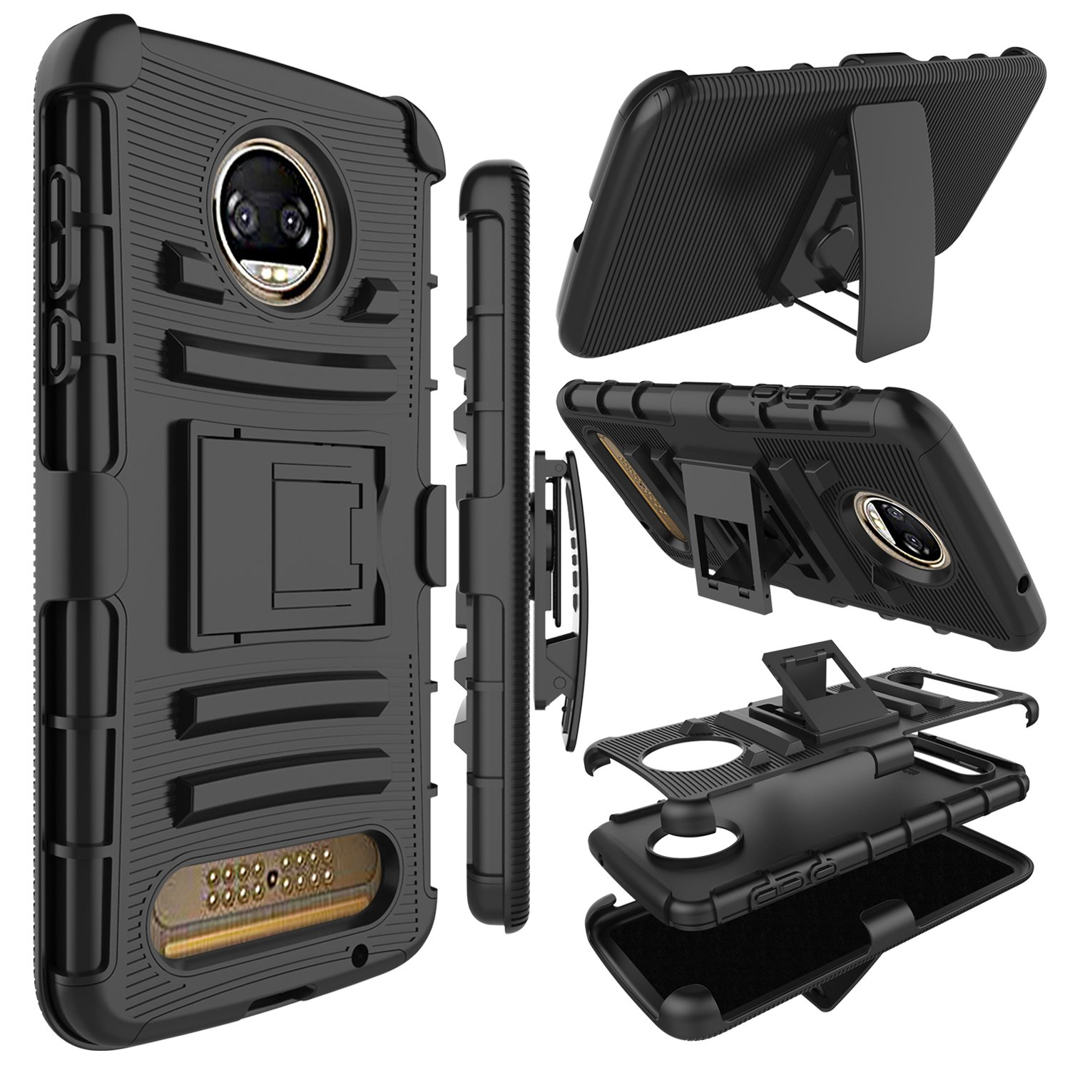 Funda Para Moto Z2 Force Con Pie Zenic (72wp78rb)