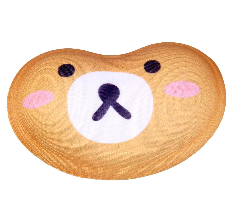TUKA Ergonomico Poggiapolsi Gel, con superficie tessile, divertenti cartoni animati, resto di polso, gel Pad Poggiapolsi, Cuscino per il polso, gatto rosa, TKC5113 pinkcat TUKAI TKC5113-pinkcat