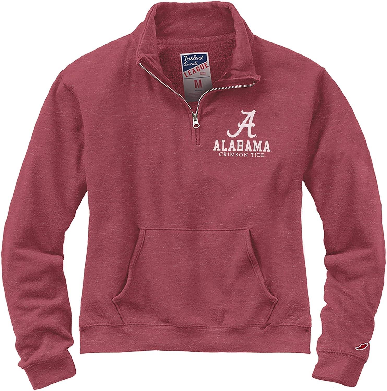 NCAA League Womens Alabama Crimson Tide Victory Springs Half Zip Medium Heather Vintage Light Maroon