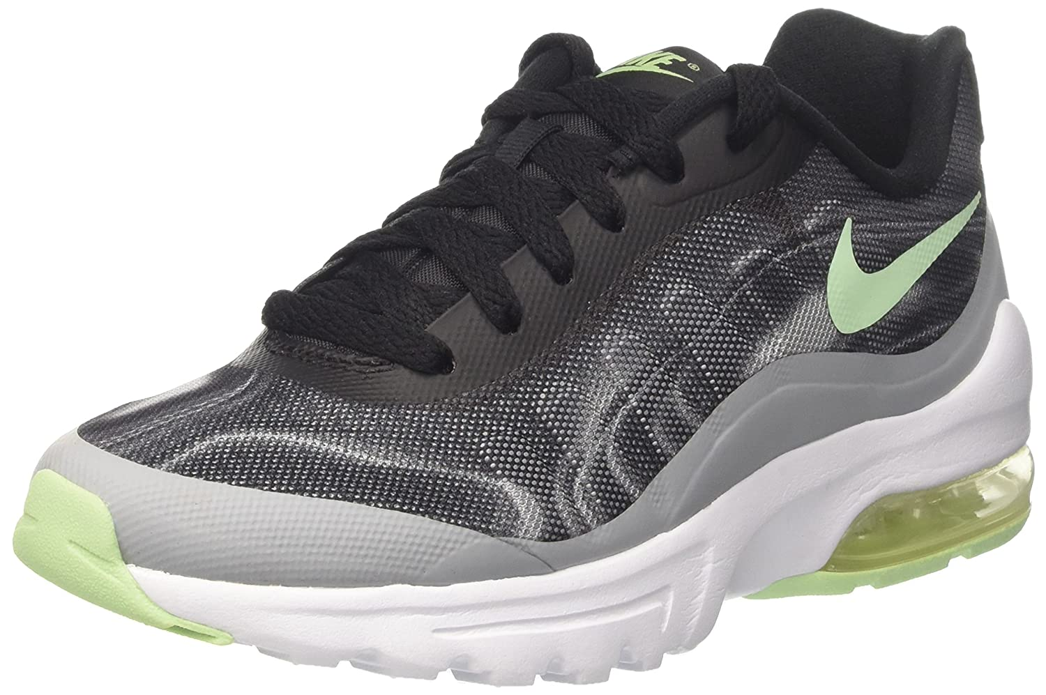 NIKE Women's Air Max Invigor Print Running Shoe B00CLNI6R8 6 B(M) US|Black/Fresh Mint/Wolf Grey/Racer Pink