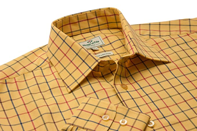 d486b4ee Hoggs Governor Premier Tattersall Shirt: Amazon.co.uk: Clothing