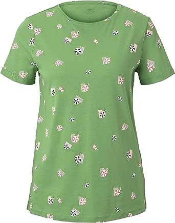 Tom Tailor Sommerprint T-Shirt Camiseta para Mujer