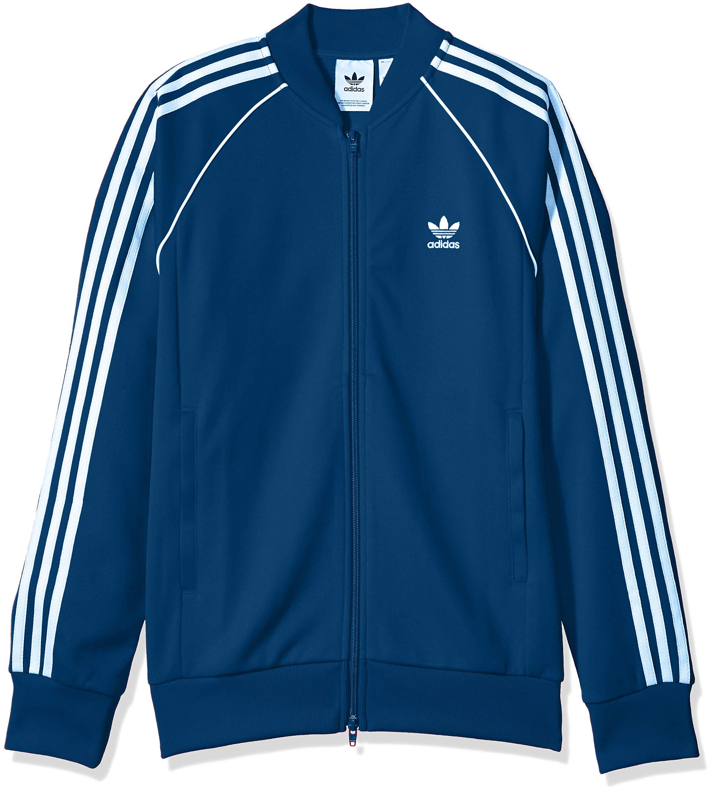 adidas Originals Men's Superstar Track Jacket, Legend Marine, Large