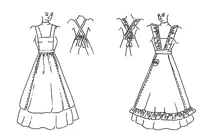 Victorian/Edwardian Apron Pattern  sc 1 st  Amazon.com & Amazon.com: Victorian/Edwardian Apron Pattern: Arts Crafts u0026 Sewing