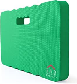 """RED Home Club Thick Kneeling Pad - Garden Kneeler for Gardening, Bath Kneeler for Baby Bath, Kneeling Mat for Exercise & Yoga - Extra Large (XL) 18x11, THICKEST 1-½"""", Green"""