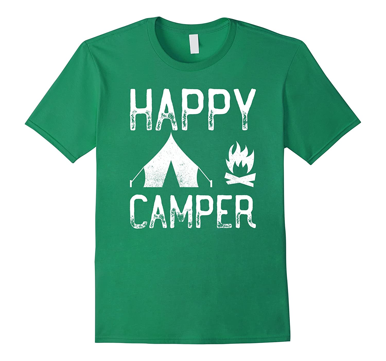 Happy Camper – Tent And Camp Fire Nature Travelers T-Shirt-TH