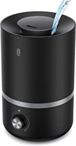 TaoTronics Humidifiers, Top Fill Humidifiers with Essential Oils Tray, 3L Cool Mist Humidifier, Humidifiers for Bedroom, Home/Office, Humidifier and Diffuser in one, Sleep Mode, Auto Shut Off