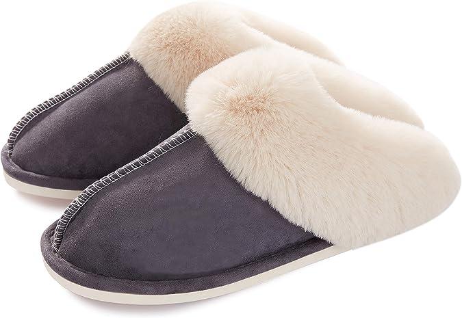 ChayChax Hausschuhe Damen Winter W/ärme Pantoffeln Memory Foam Weiche Pl/üsch Bequeme Baumwolleschuhe