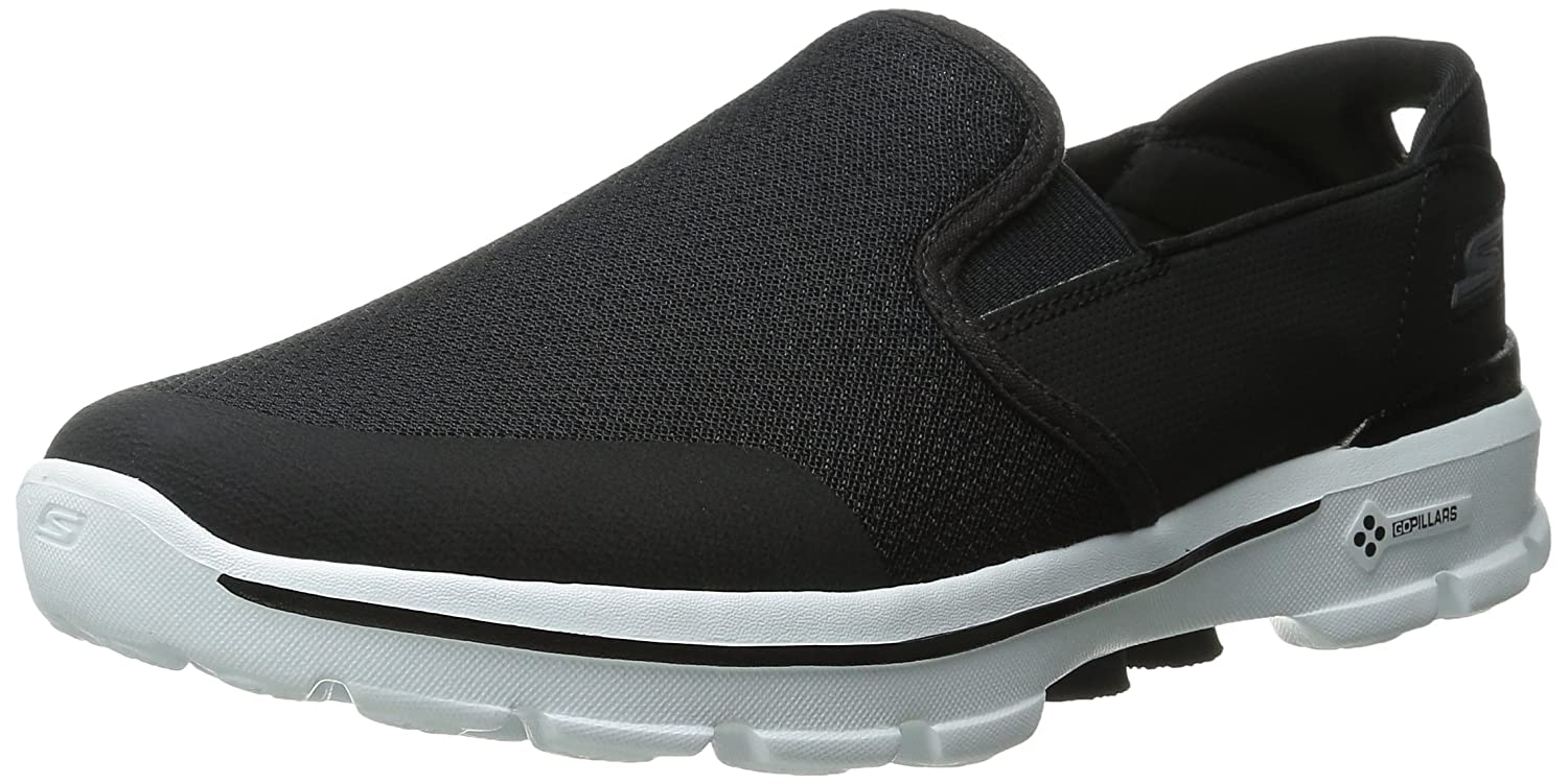 Skechers Go Walk 3 Charge - Zapatillas Hombre 42.5 EU|Black/White