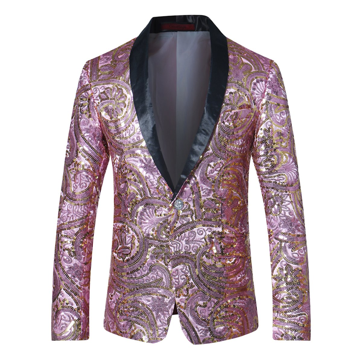 Cloudstyle Mens Blazer One Button Dress Coat Prom Wedding Party Jacket Slim Fit Suit Separates