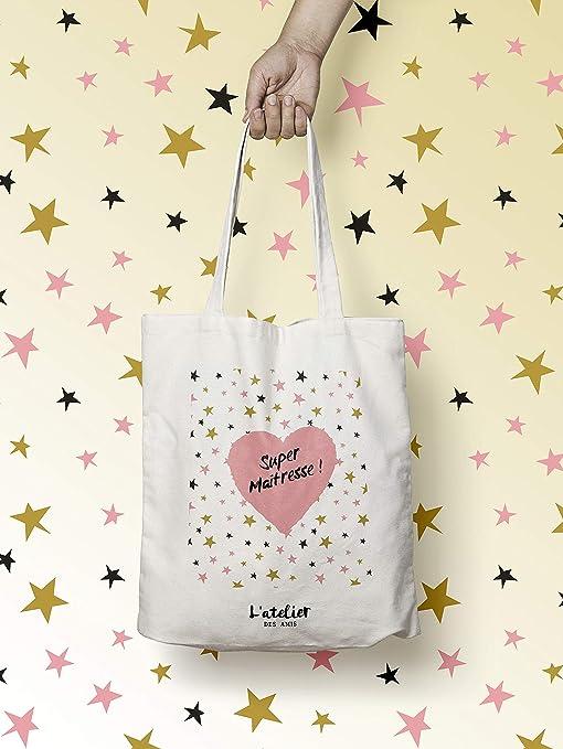 Bolso Tote Bag para profesor, bolsa de algodón para centro de mesa ...