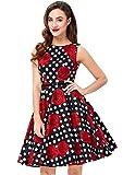 GRACE KARIN Women's Swing Party Multi Patterns Dresses