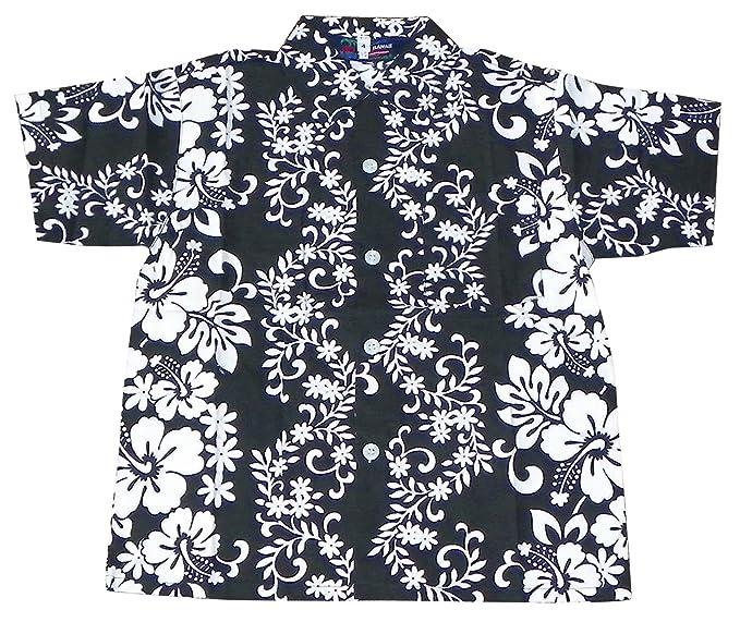 4ad4ca482 Amazon.com: Blue Hawaii Boys Cotton Floral Print Button Down Hawaiian Shirt:  Clothing
